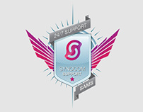 Design Vector logo / icon Synocom 24/7 Support (SAMS)