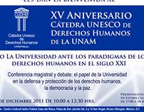 XV Aniversario de la CUDH de la UNAM