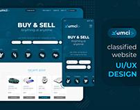 "Landing page UI/UX design for ""KUMCI"" classified"