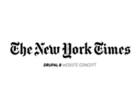 The New York Times / Drupal 8 Website Concept
