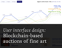 Blockchain-based Auctions of Fine Art