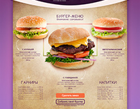 Landing page for burger cafe