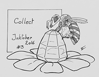 Inktober 2016 day 3 - Collect