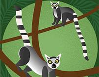Jungle animals vectors