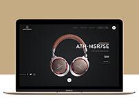 Audio-technica website redesign