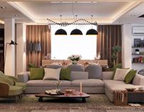 Modern villa's ground floor design con creative office