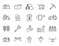 20 Agriculture Vector Icons