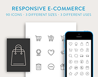 Responsive Ecommerce Icons Free Set