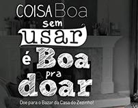 Divulgação Bazar Beneficente - ONG Casa do Zezinho
