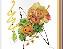 Menu design and photos Cinco Sentidos Restaurante 2012