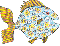 Greeting Card Drawings (Fish)