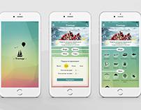 """Mobile App Design """"Travelapp"""""""