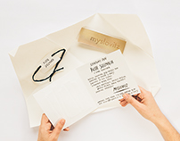 Handlettering, calligraphy - invitations