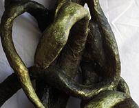 Snakes. Mixed Media Sculpture