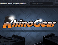 RhinoGear website splash page