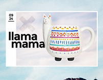 Llama Mama Design Card