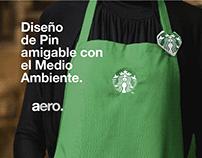 Starbucks · Pin Amigable con el ambiente