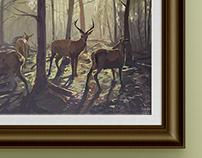 Deer illustrations compilation