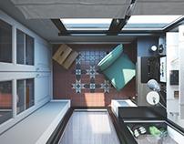 Balcony 3d render for Las Vegas project