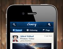 Concept Social Diary & Discovery App.