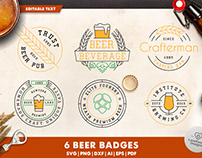 Beer Logo Badges