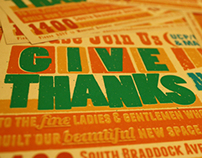Give Thanks - Typographic Postcard