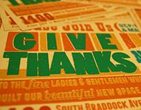Give Thanks - Typographic Postcard