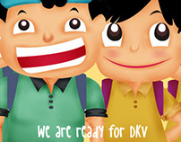 mascot for DKV Exhibition In this project -team