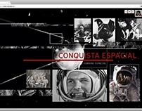 """MicroSite """"Conquista Espacial"""" del Planetario"""