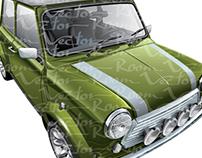 Vector vintage Mini Cooper
