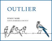 Outlier - wine label