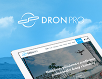 DronPro web and logo