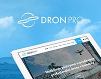 DronPro web and logo