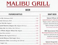 Malibu Bar and Grill Menu Redesign