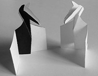 Pop-up Paper Chess Set