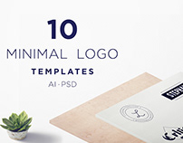 Simple 10 Free Minimal Logo Templates PSD | AI