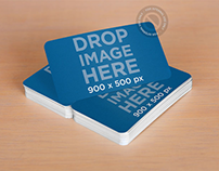 Stack of Business Cards Sitting on Top of a Desk