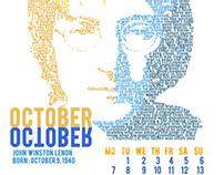 Music Artists 2013 Calendar