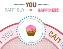 Typeface Specimen Poster | Cupcakes