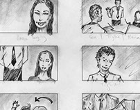 """An Uncertain Date"" Storyboards (short film)"