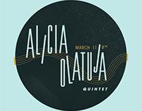 Alicia Olatuja Concert Branding