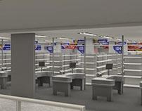 Sinalização em 3D | Rio grande Supermercados