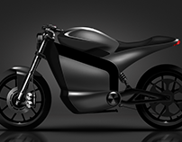 Retro Electric Motorbike