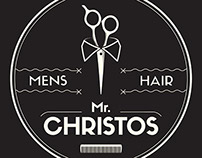 Mr. Christos - Barber Logo