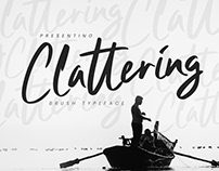 CLATTERING - FREE BRUSH TYPEFACE FONT