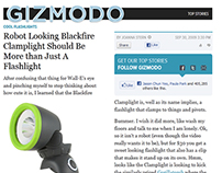 GIZMODO Blackfire Clamplight