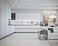 White apartment in Kharkiv
