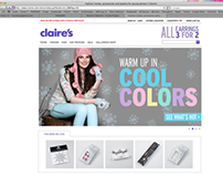 Claire's / Home Page Features