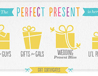ModCloth Gift Guide Redesign