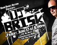 DJ Brisk Event Flyers